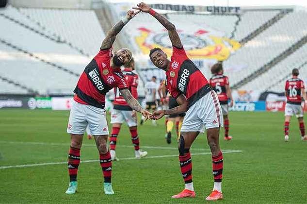 5º colocado – Flamengo (24 pontos) – 12 jogos / 11% de chances de título; 71.8% para vaga na Libertadores (G6); 0.34% de chances de rebaixamento.