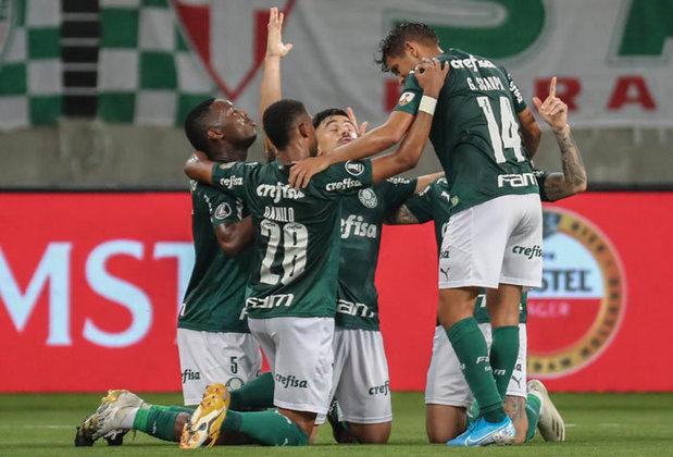 5º colocado – Palmeiras (37 pontos) – 22 jogos / 5,4% de chances de título; 65,8% para vaga na Libertadores (G6); 0,039% de chance de rebaixamento.