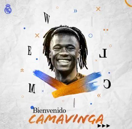 5° colocado - Real Madrid - 55 jogadores contratados - Última aquisição: Eduardo Camavinga (30 milhões de euros).