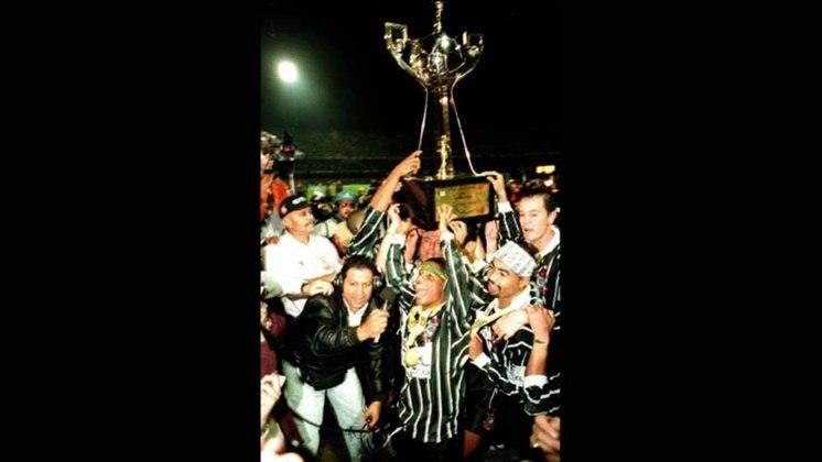 5 de junho de 1997 - Corinthians conquista o Paulistão de 1997 ao garantir a primeira posição no quadrangular final.