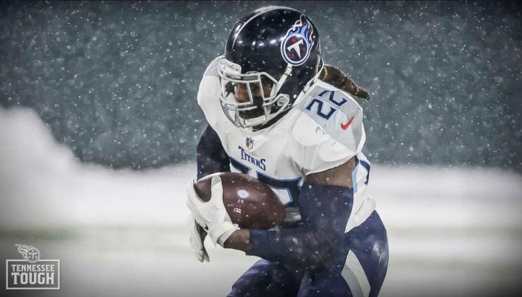 5º Derrick Henry (Tennessee Titans): Condutor do ataque dos Titans. Seu valor é ressaltado, especialmente, quando não produz tanto. Nestas ocasiões, é derrota certa de Tennessee.