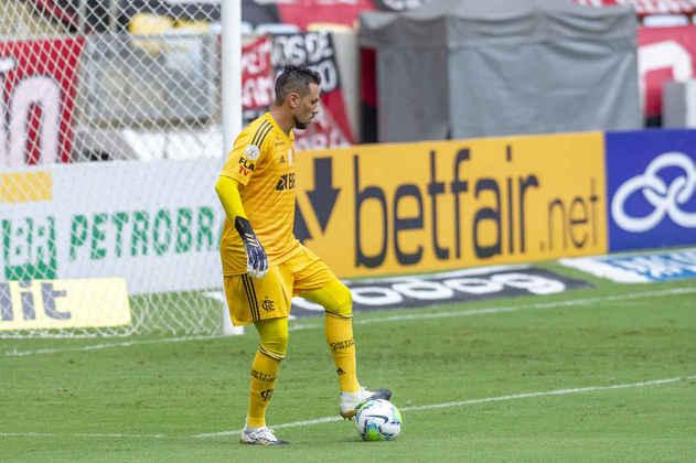 5º - Diego Alves - Posição: Goleiro - Clube: Flamengo - Idade: 36 anos - Valor de mercado segundo o Transfermarkt: 1,5 milhões de euros (aproximadamente R$ 9,29 milhões) - Contrato até: 31/12/2021