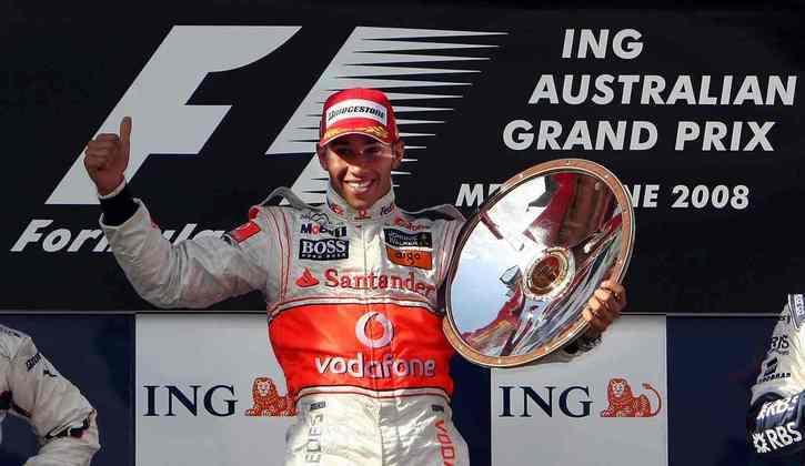 5 - Lewis Hamilton começou a campanha do primeiro título mundial com uma vitória logo na estreia, no GP da Austrália