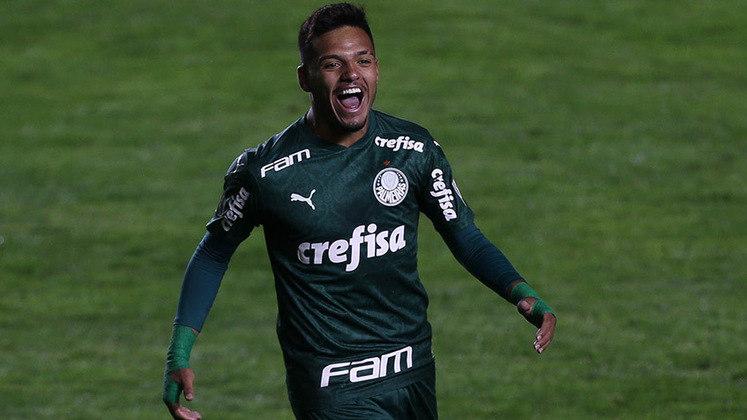 5º lugar: Gabriel Menino - Meia - Palmeiras - 20 anos - Valor de mercado segundo o site Transfermarkt: 14 milhões de euros (aproximadamente R$ 90,1 milhões)