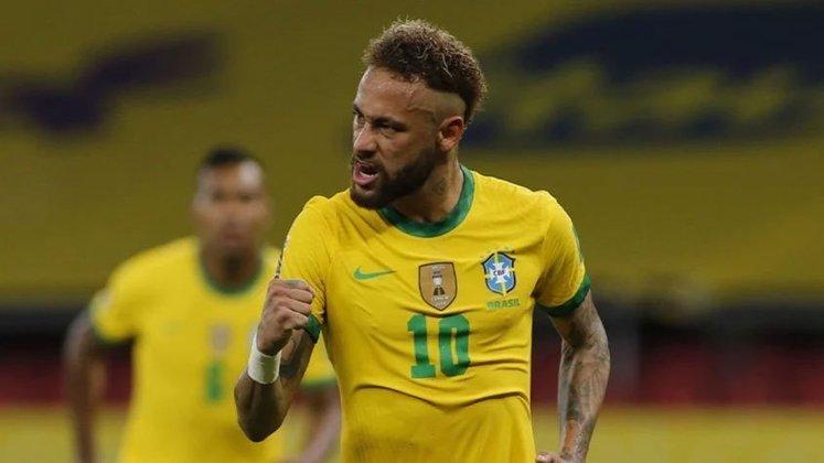 5º lugar: Neymar - 114 partidas pela Seleção Brasileira