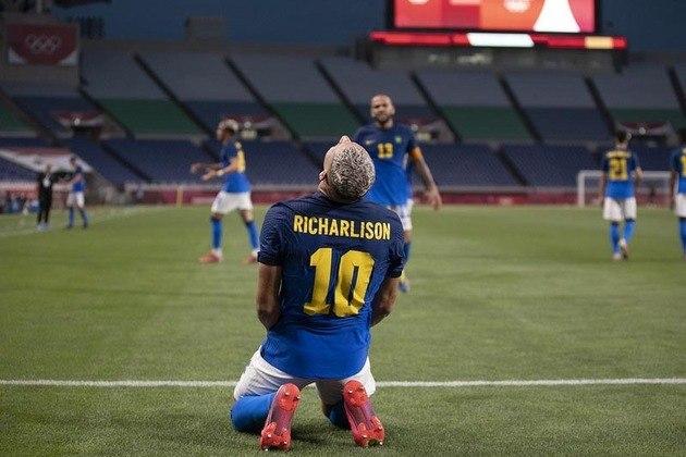 5° lugar - Richarlison - 5 gols em 3 jogos (Tóquio 2020)