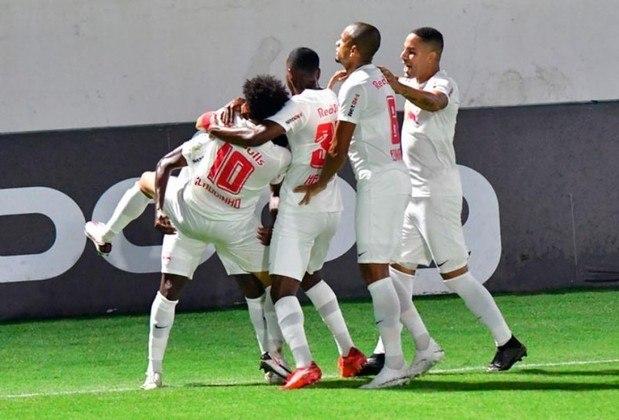 5º - RB Bragantino - 31 pontos em 18 jogos. Oito vitórias, sete empates e três derrotas. Vinte e sete gols marcados e catorze sofridos. 57.41% de aproveitamento.