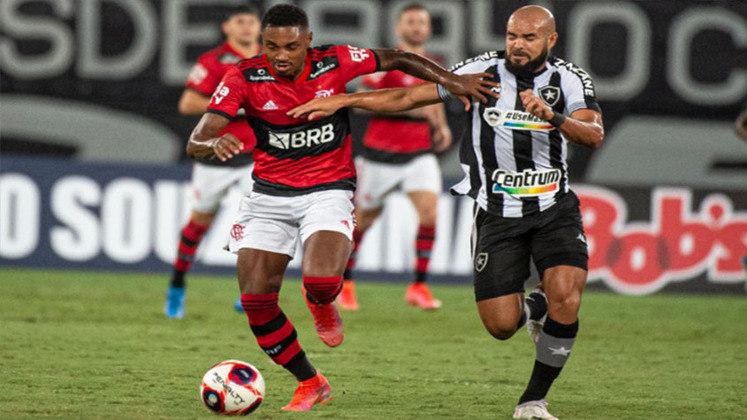 5ª rodada - Botafogo 0x2 Flamengo (Estádio Nilton Santos - 24/03/2021) - Gols do Flamengo: Rodrigo Muniz e Hugo Moura