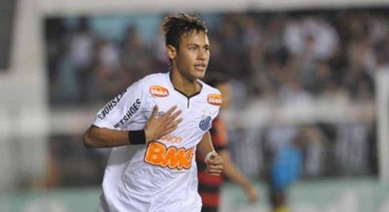 Neymar viveu ótimos momentos com a camisa do Santos