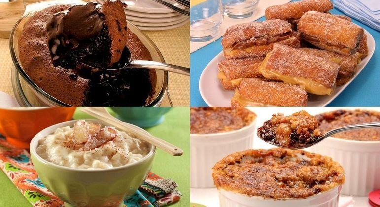 5 sobremesas quentes para aquecer os dias frios