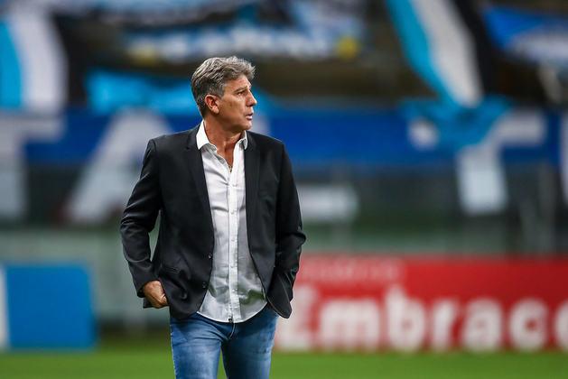 5) Técnico mais longevo do futebol brasileiro da atualidade, Renato Gaúcho, do Grêmio, abre o top 5, com um total de 168 triunfos.