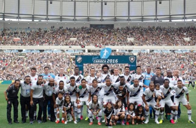 5° - Vasco (9,6 milhões de torcedores) - Dois títulos: Dois estaduais (2015 e 2016).