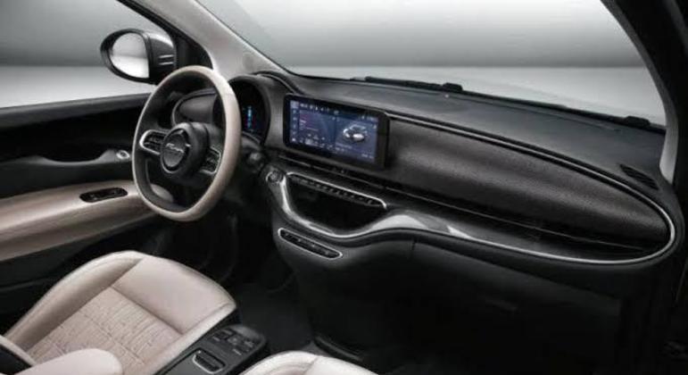 """Nesta versão o Fiat 500e vem de série equipado com bancos em tecido, rodas de 15"""""""