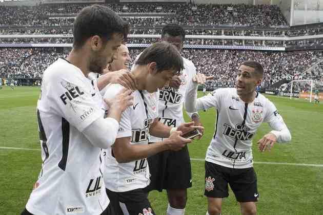 5/11/2017 - Corinthians 3 x 2 Palmeiras - Neo Química Arena - 32ª Rodada Brasileirão-2017: O Verdão estava em melhor fase no campeonato e pronto para tomar a ponta do Timão, que mais uma vez se superou e venceu, sedimentando o caminho para o título brasileiro. Dérbi ficou conhecido pela