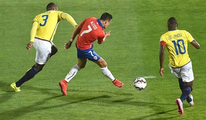 6º - Alexis Sanchez - Chile - 16 gols