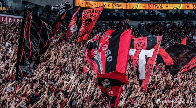 6º - Athletico - O Athletico Paranaense está na sexta posição do ranking, embolsando R$ 26,4 milhões em 2019, com o seu programa 'Sócio Furacão'.