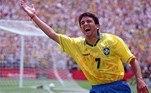6º - Bebeto: 39 gols em 76 jogos pelaseleção