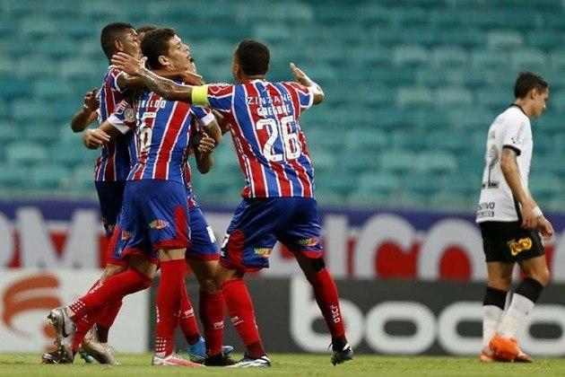 6º colocado – Bahia (17 pontos) – 10 jogos / 5.7% de chances de título; 45.6% para vaga na Libertadores (G6); 3.2% de chance de rebaixamento.