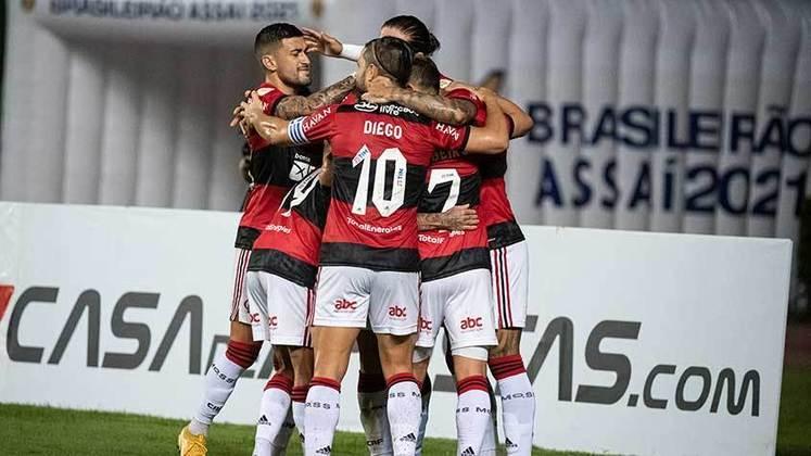 6º colocado – Flamengo (18 pontos) – 10 jogos / 6% de chances de título; 52.5% para vaga na Libertadores (G6); 2.2% de chances de rebaixamento.