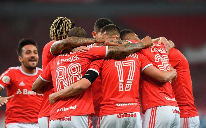 6º colocado – Internacional (38 pontos) – 24 jogos / 0.88% de chances de título; 42.5% para vaga na Libertadores (G6); 0.027% de chance de rebaixamento.