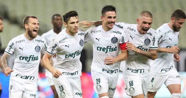 6º colocado – Palmeiras (34 pontos) – 4,9% de chances de título; 54,7% para vaga na Libertadores (G6); 0,31% de chance de rebaixamento.