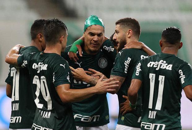 6º colocado – Palmeiras (47 pontos/27 jogos): 6.6% de chances de ser campeão; 78.7% de chances de Libertadores (G6); 0% de chances de rebaixamento.