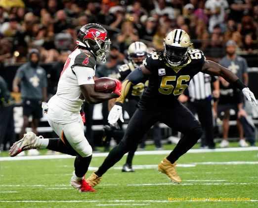 6. Demario Davis (New Orleans Saints): Um dos jogadores mais subestimados da NFL, Davis vem se tornando uma das peças cruciais da defesa dos Saints. Esnobado do Pro Bowl por toda sua carreira, o veterano foi nomeado All-Pro nas duas últimas temporadas, incluindo honras de First-Team em 2019.