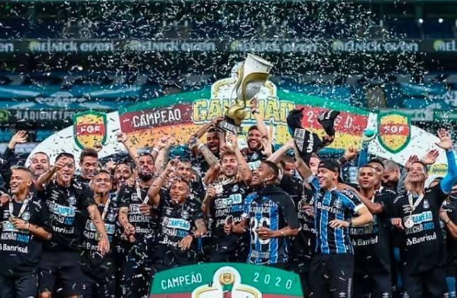 6° - Grêmio (8,03 milhões de torcedores) - Nove títulos: Uma Libertadores (2017), uma Recopa Sul-Americana (2018), uma Copa do Brasil (2016), quatro estaduais (2018, 2019, 2020 e 2021) e duas Recopas Gaúchas (2019 e 2021).