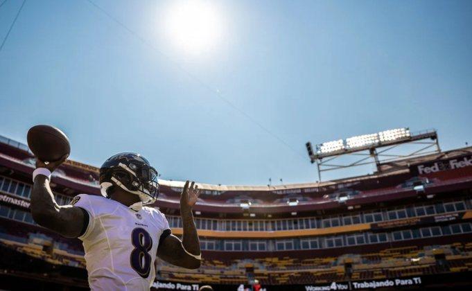 6º Lamar Jackson (Ravens): Não demonstrou ainda o mesmo nível do ano passado, quando foi MVP. Ainda assim é encantador vê-lo jogar