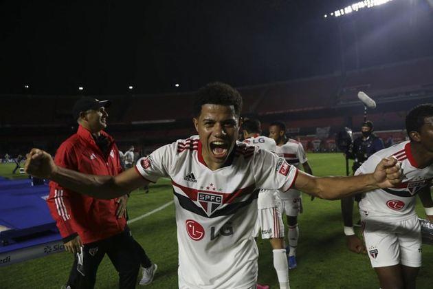 6º lugar: Gabriel Sara - São Paulo - 21 anos - Meia - Avaliado em: 6,5 milhões de euros (aproximadamente R$ 42,11 milhões)