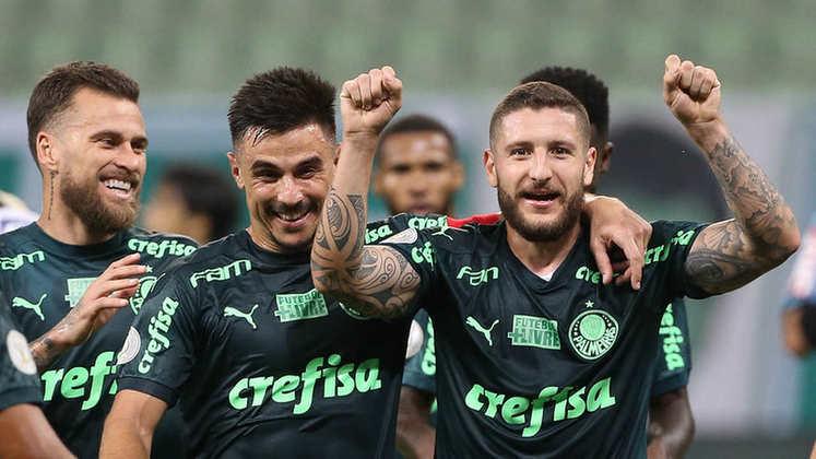 6º - Palmeiras - 1889 gols em 1296 jogos