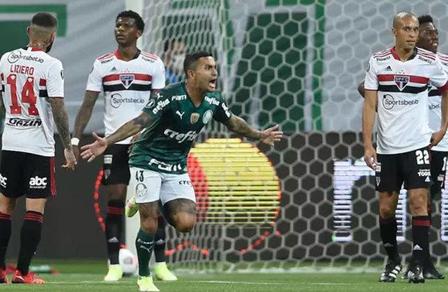 6 - Palmeiras   Abrindo a participação de brasileiros, o Palmeiras tem 116 vitórias em 207 jogos pela Libertadores e lidera a lista entre os clubes nacionais. O último triunfo alviverde foi no Choque-Rei das quartas de final da atual edição, em que venceu por 3 a 0, no Allianz Parque.