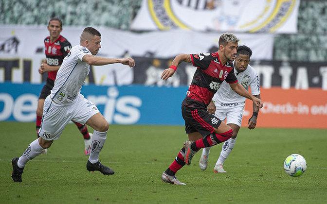6ª rodada) Santos 0x1 Flamengo, na Vila Belmiro, em 30 de agosto de 2020