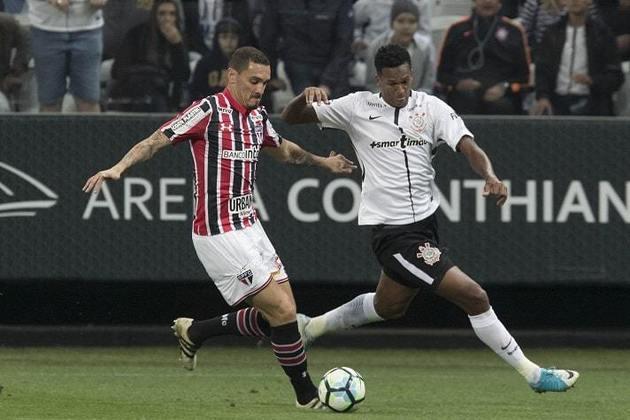 7º) 11/6/2017 - Corinthians 3 x 2 São Paulo - 6ª rodada do Brasileirão. Gols: Romero, Gabriel e Jadson (COR)/Gilberto e Wellington Nem (SAO)