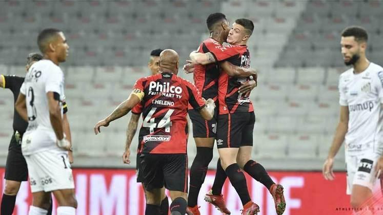 7° - Athletico Paranaense - Receitas em 2020: R$ 329 milhões
