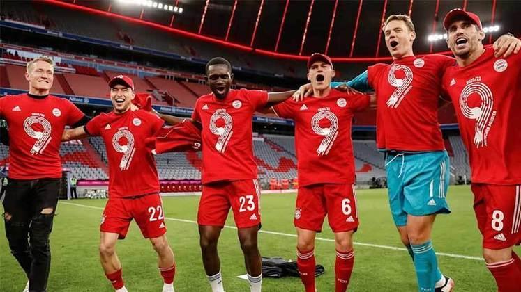 7º - Bayern de Munique - Valor do elenco segundo o Transfermarkt: 818,5 milhões de euros (aproximadamente R$ 5,01 bilhões)