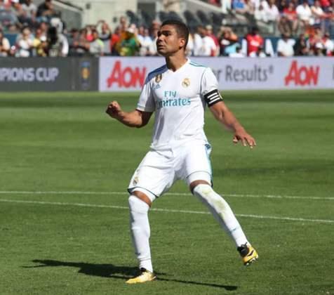 7º - Casemiro - Real Madrid - Valor de mercado: € 70 milhões (R$ 447,35 milhões)