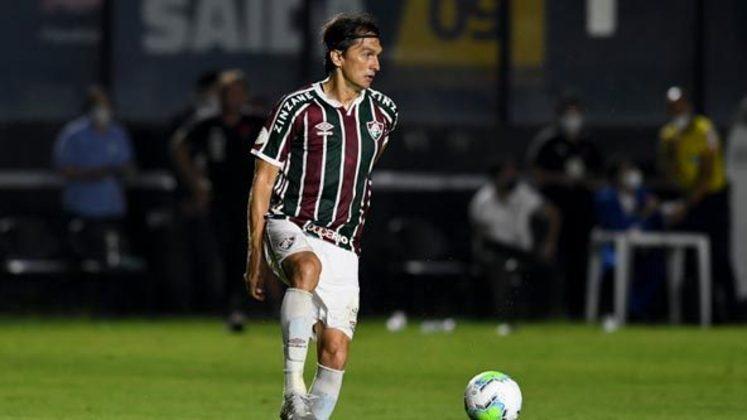 7º colocado – Fluminense (40 pontos/25 jogos): 1,7% de chances de ser campeão; 55,8% de chances de Libertadores (G6); 0,004% de chances de rebaixamento.