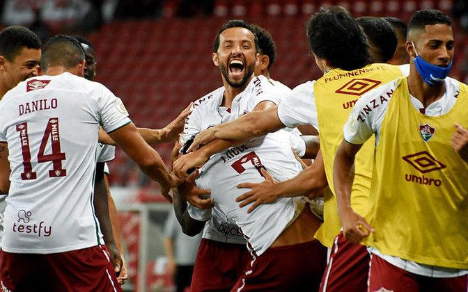 7º colocado – Fluminense (43 pontos/28 jogos): 0.45% de chances de ser campeão; 36.6% de chances de Libertadores (G6); 0.001% de chances de rebaixamento.