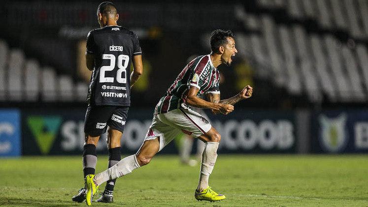 7º colocado – Fluminense (50 pontos/32 jogos): 0.031% de chances de ser campeão; 47.8% de chances de Libertadores (G6); 0% de chances de rebaixamento.