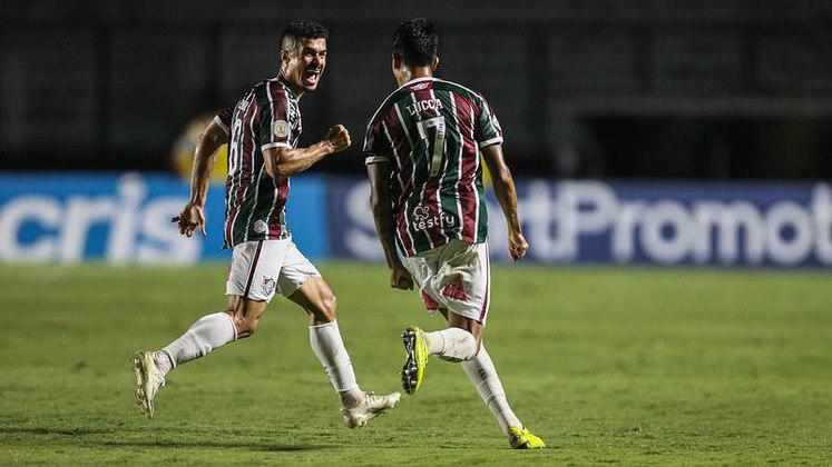 7º colocado – Fluminense (50 pontos/32 jogos): 0.050% de chances de ser campeão; 40.1% de chances de Libertadores (G6); 59.9% de chances de Sul-Americana; 0% de chances de rebaixamento.