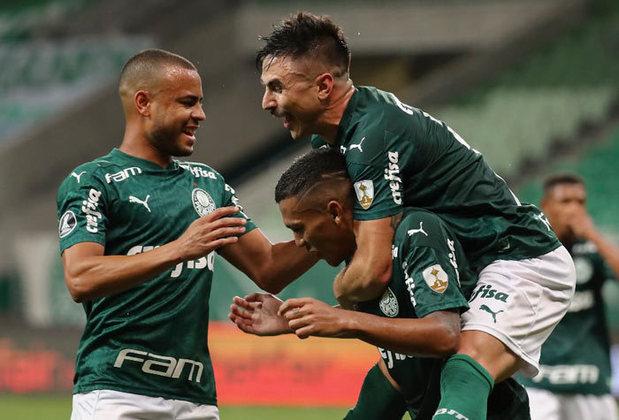 7º colocado – Palmeiras (38 pontos) – 23 jogos / 2.6% de chances de título; 58.5% para vaga na Libertadores (G6); 0.013% de chance de rebaixamento.