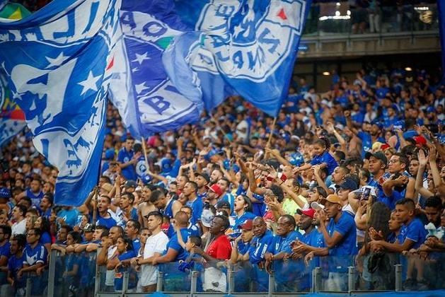 7- Cruzeiro - LANCE!/Ibope 2014: 6,2 milhões de torcedores / Datafolha 2019: 3,9 milhões de torcedores