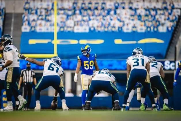 7° Los Angeles Rams - Liderança da NFC Oeste e com a defesa produzindo em grande nível. O ataque segue eficiente quando o combo jogo corrido, screen e play action entra.