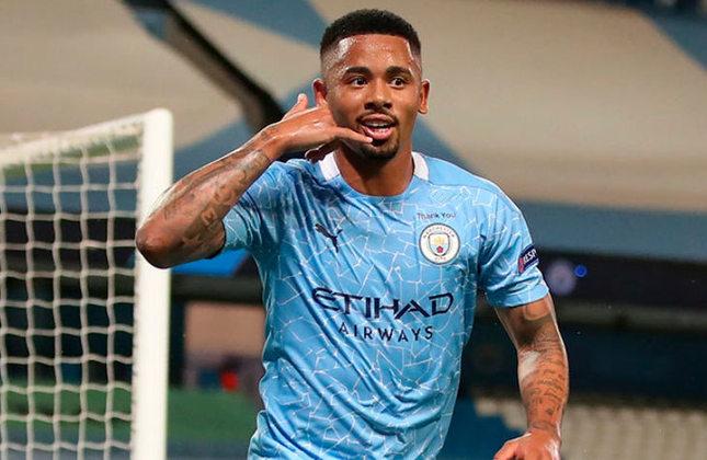 7º lugar: Gabriel Jesus - Atacante - Brasil - Manchester City - Valor: 60 milhões de euros (aproximadamente R$ 359,15 milhões)