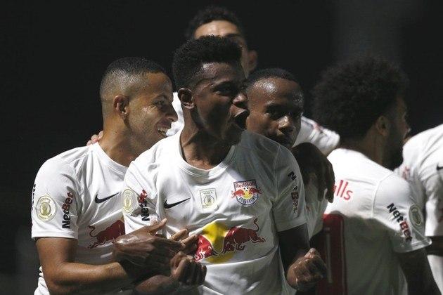 7º lugar - Red Bull Bragantino: Valor total do elenco segundo o site Transfermarkt: 57,38 milhões de euros (aproximadamente R$ 371,69 milhões)