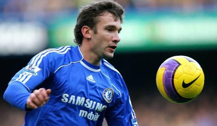 7º - O ex-atacante ucraniano Shevchenko ficou na sétima posição da lista. Depois de se tornar ídolo do Milan, o jogador chegou ao Chelsea em 2006, mas decepcionou. Realizou somente 77 partidas, fazendo 22 gols pelo clube inglês