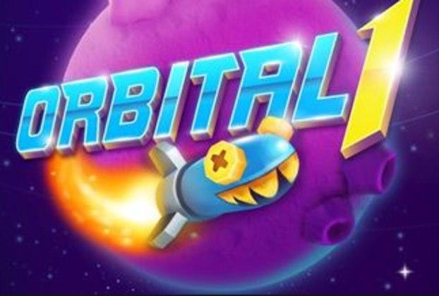 """7 – Orbital 1: """"Orbital 1 traz um desafio multiplayer para quem é fã de uma boa estratégia. Seu objetivo aqui é controlar uma pequena frota de naves espaciais em uma arena de combate, em que você tem à disposição uma frota de veículos, criaturas e poderes para usar para estraçalhar seu adversário."""""""