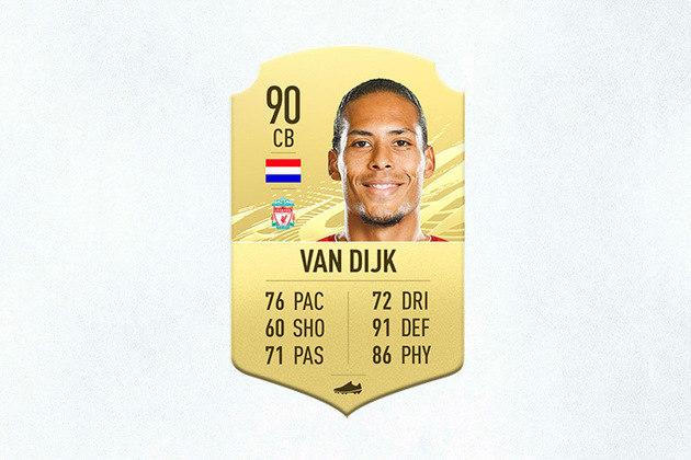 7- Virgil Van Dijk (Liverpool) - 90 de Overall - Peça fundamental na defesa do Liverpool, Van Dijk é o melhor zagueiro no game. É o atleta com a melhor nota defensiva nesta edição