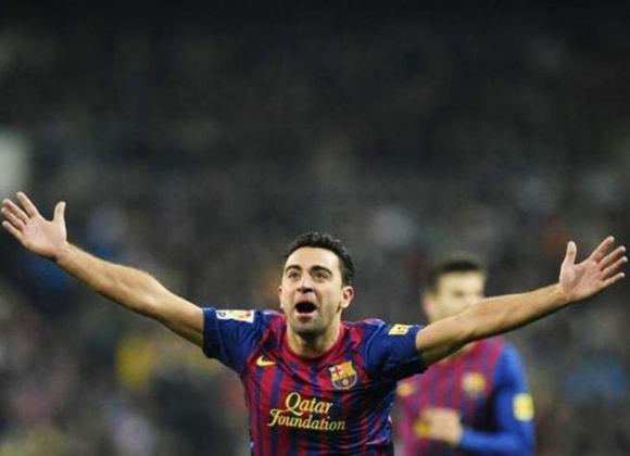 7 – Xavi: treinador atualmente, o espanhol fez história também no Barcelona e na seleção nacional, com os quais tem inúmeros títulos, como a Copa de 2010, e é considerado um dos melhores meio-campistas de todos os tempos